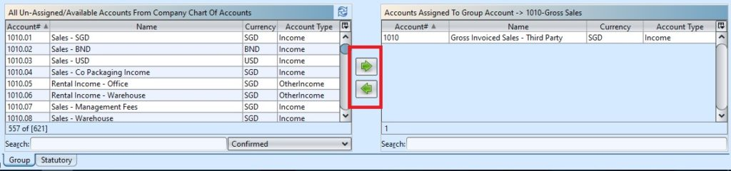 Account Report Mapping assign