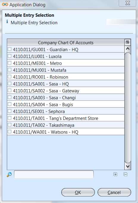 Accounts Reports - multi select