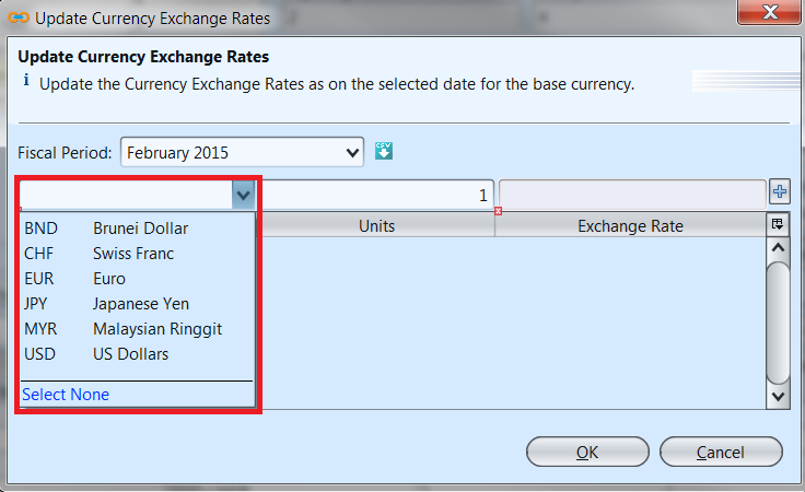 Currency - update rates
