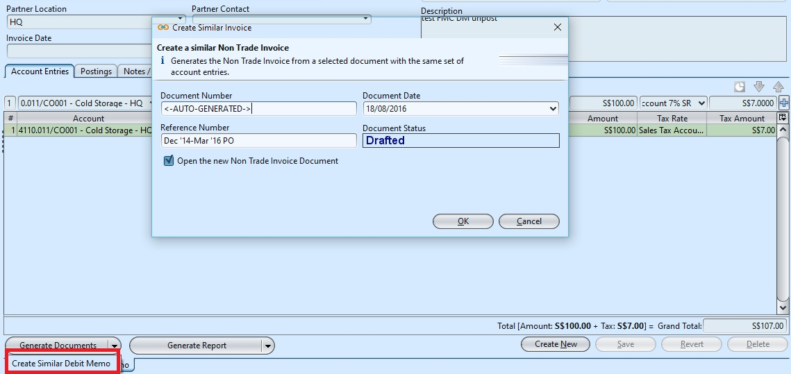 Debit Note Invoice. Sales Debit Note - (Tax Invoice - Full) Sql
