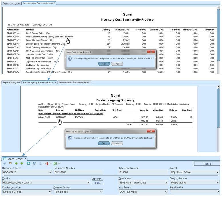 Inventory Reports - sample
