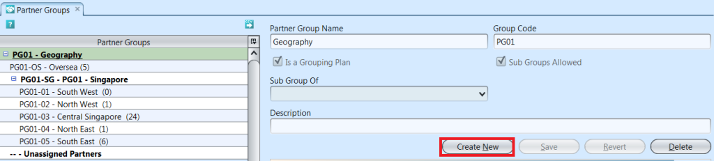 Partner Groups - create