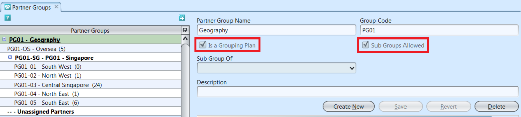 Partner Groups - groupings