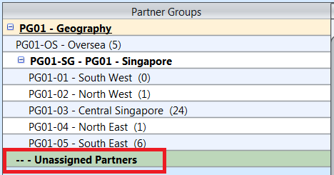 Partner Groups - unassigned