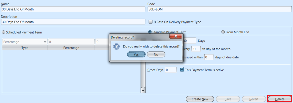 Payment Terms - delete