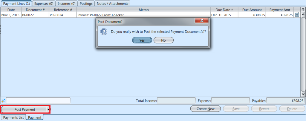 Payments - post