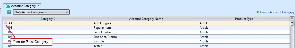 Account Category group1