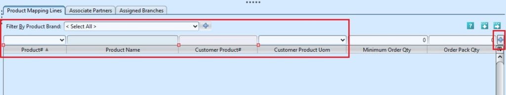 Customer Product Mapping add