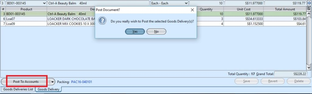 Goods Delivery cpost