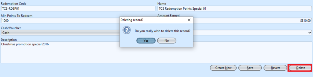 Redemption Point - delete