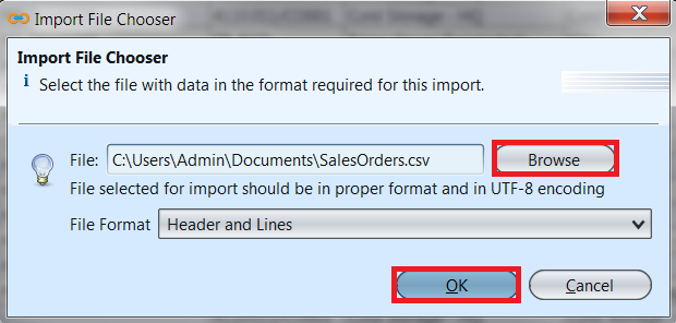 Sales Order - import file chooser