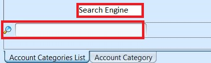 Account Category - search