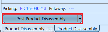 Product Disassembly - post PDA