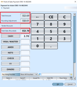 Rounding Rules - POS Entry payment