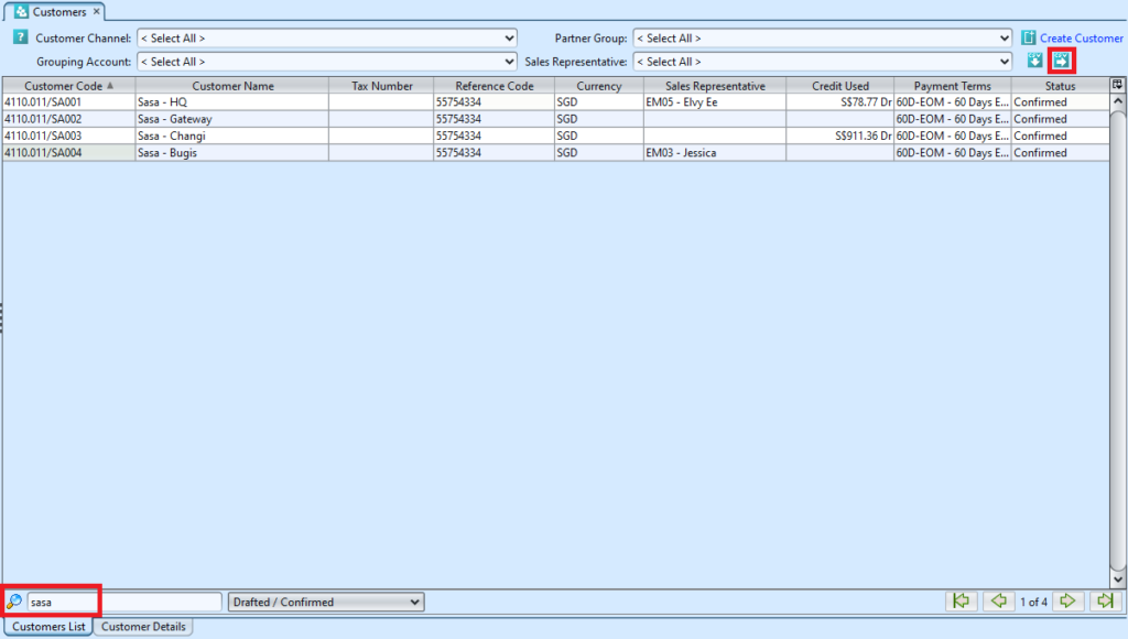 customers-filtered-list-view-for-export