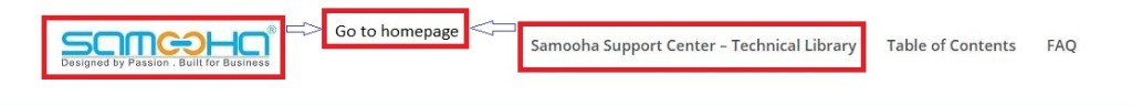 Samooha UM homepage - marked
