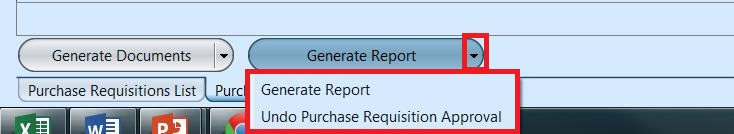Item Requisition - gen report